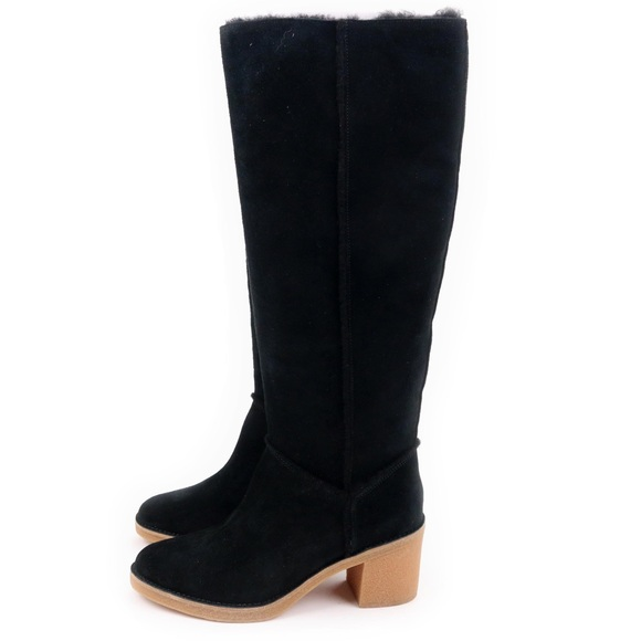 0478b7a1cec UGG Kasen Tall Black Sheepskin Knee High Boots 🔥 Boutique